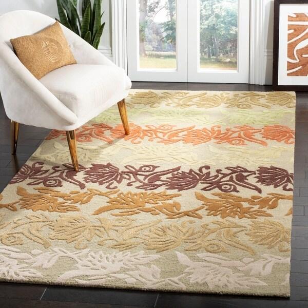"Safavieh Handmade Soho Passage Sage New Zealand Wool Rug - 7'6"" x 9'6"""