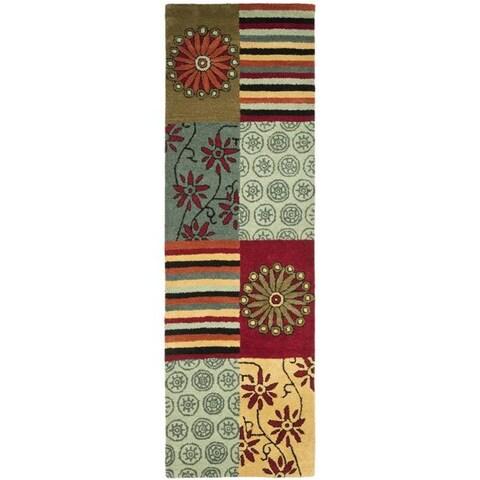 """Safavieh Handmade Soho Patchwork Multi New Zealand Wool Runner - 2'6"""" x 12'"""