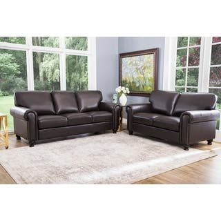 Abbyson London Top Grain Leather 2 Piece Living Room Set|https://ak1.ostkcdn.com/images/products/5310026/P13118845.jpg?impolicy=medium