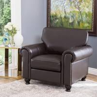 Abbyson London Top Grain Leather Armchair