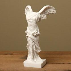 White Bonded Marble Nike of Samothrace Statue