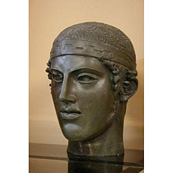Bonded Marble Charioteer of Delphi Large Head Bust - Thumbnail 0