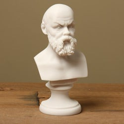 White Bonded Marble Socrates the Philosopher Mini Bust