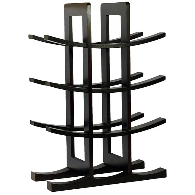 Oceanstar Dark Espresso Bamboo 12-bottle Wine Rack - Thumbnail 0