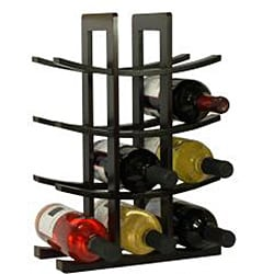 Oceanstar Dark Espresso Bamboo 12-bottle Wine Rack - Thumbnail 1