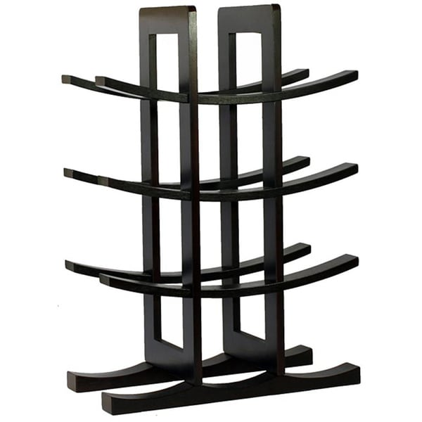Oceanstar Dark Espresso Bamboo 12-bottle Wine Rack