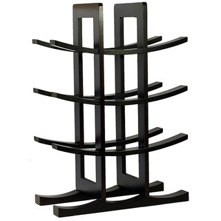 Porch & Den Glorieta Ortiz Dark Espresso Bamboo 12-bottle Wine Rack