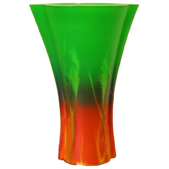 Forest Sunrise Sodium-Based Glass Vase