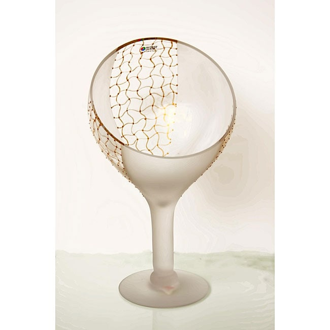 Web Of Intrigue Series Frosted Vase