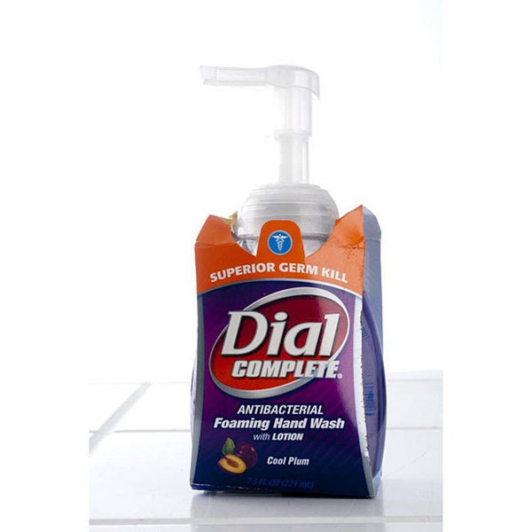 Dial 7.5-ounce Foaming Handwash with Cool Plum Lotion (Pack of 4)