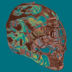 NHL 'Inferno Design' SX Comp 100 Indoor Goalie Face Mask - Thumbnail 1