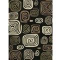 Hand-tufted Chalice Black Geometric Rug (3'6 x 5'6)