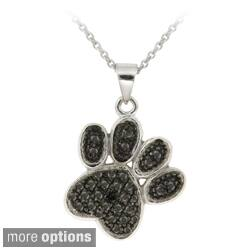 DB Designs Sterling Silver Black Diamond Accent Paw Print Necklace|https://ak1.ostkcdn.com/images/products/5314448/DB-Designs-Sterling-Silver-Black-Diamond-Accent-Paw-Print-Necklace-P13122342d.jpg?impolicy=medium