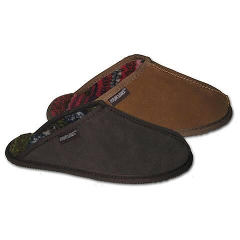 Muk Luks Mens Berber Suede Slippers by  New Design