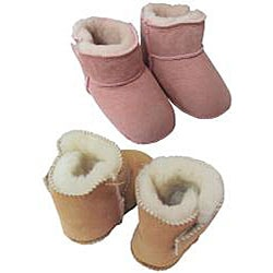 Amerileather Double Faced Sheepskin Fleece Baby Bootie