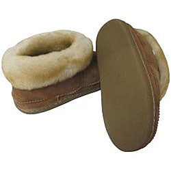 Amerileather Unisex Brown Double Faced Shearling Slippers