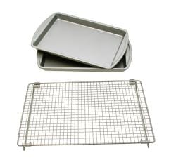 Le Chef Basic Baking Sheets and Cooling Rack Set - Thumbnail 0