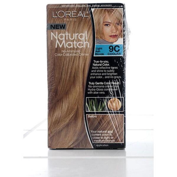 Shop L Oreal Natural Match 9c Light Ash Blonde Hair Color Pack Of