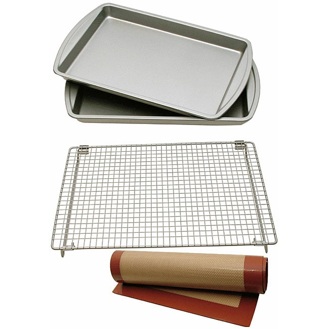 Le Chef Nonstick 4-piece Cookie Bakeware Set