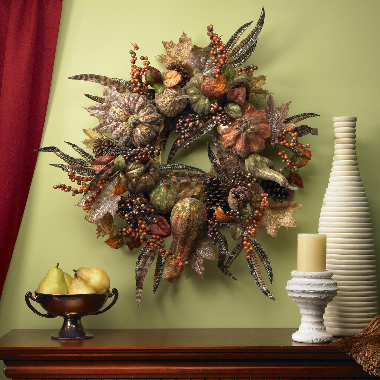 Autumn Pumpkin 28-inch Wreath