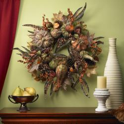 Autumn Pumpkin 28-inch Wreath