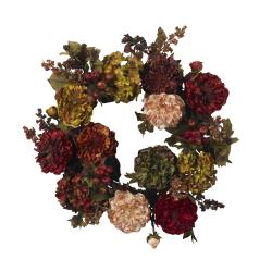Autumn Hydrangea Peony 22-inch Wreath - Thumbnail 1