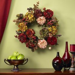Autumn Hydrangea Peony 22-inch Wreath - Thumbnail 2