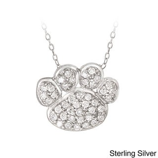 Link to Icz Stonez Sterling Silver Cubic Zirconia Paw Print Necklace Similar Items in Necklaces