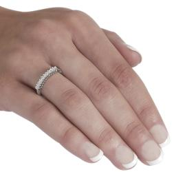 Journee Collection  Sterling Silver Baguette CZ Bridal & Engagement Ring