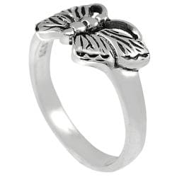 Journee Collection  Sterling Silver Butterfly Ring - Thumbnail 1