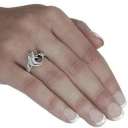 Journee Collection Sterling Silver Curled Tail Dolphin Ring