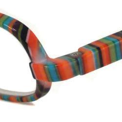 NVU Eyewear Women's Cyclone Orange Stripe Reading Glasses - Thumbnail 1
