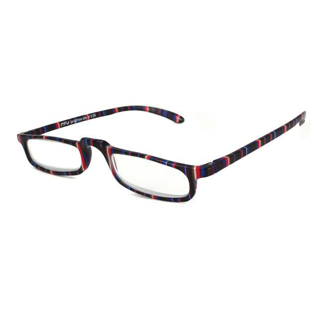 NVU Eyewear Women's Brighton Blue Stripe Reading Glasses