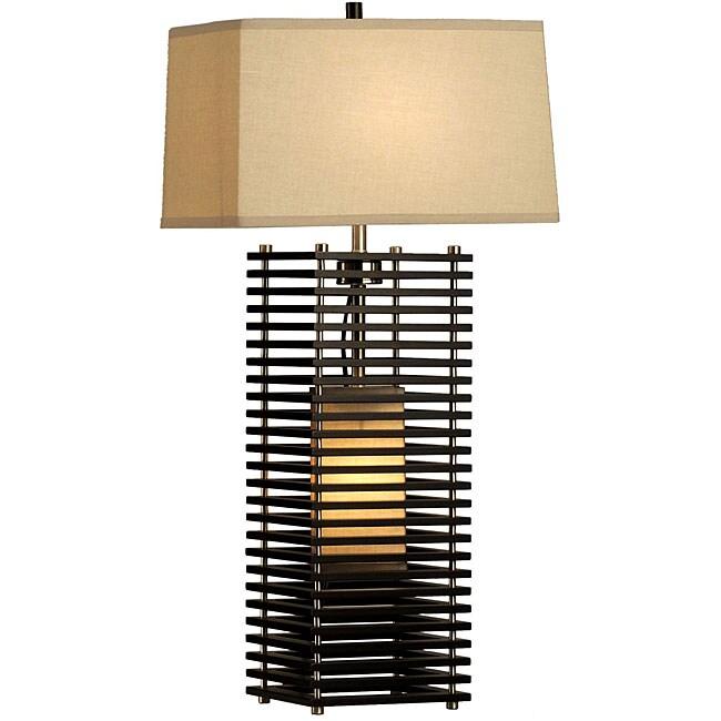 Nova Lighting 'Kimura' 2-light Wood Table Lamp