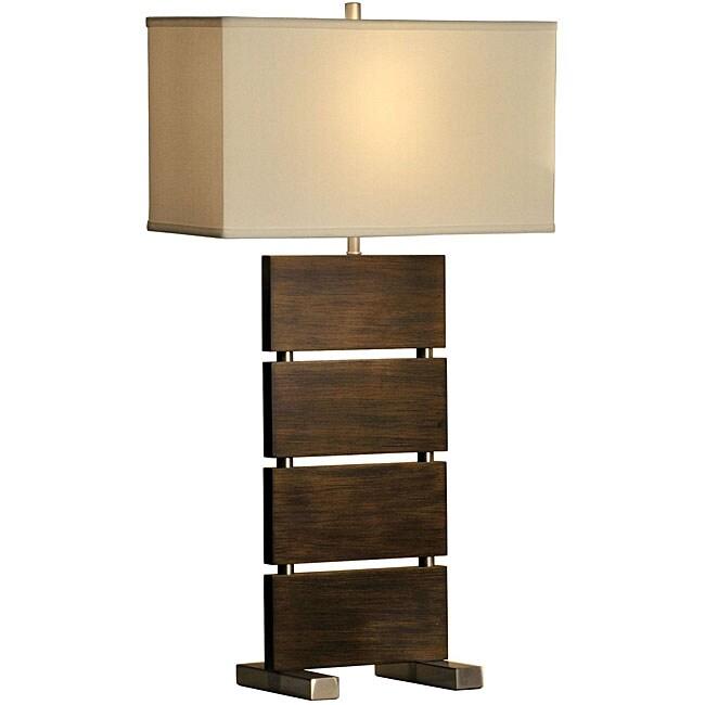 Nova Lighting 'Divide' 1-light Wood Table Lamp