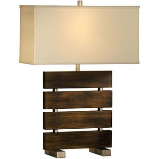 Nova Lighting 'Divide' 1-light Wood Reclining Table Lamp