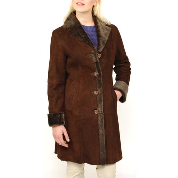Lana Rafinatta's Women's Spanish Merino Shearling Coat - Free ...