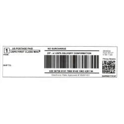 Dymo Compatible 99019 Thermal Shipping labels ( 4 rolls )