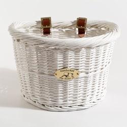 Nantucket Co. Cruiser Collection White Bicycle Basket