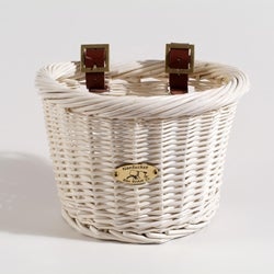 Nantucket Co. Child's Cruiser Collection White Bicycle Basket