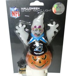 Carolina Panthers Halloween Ghost Night Light