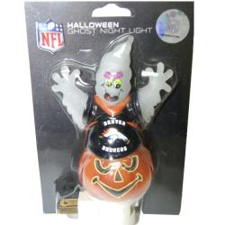 Denver Broncos Halloween Ghost Night Light - Thumbnail 0