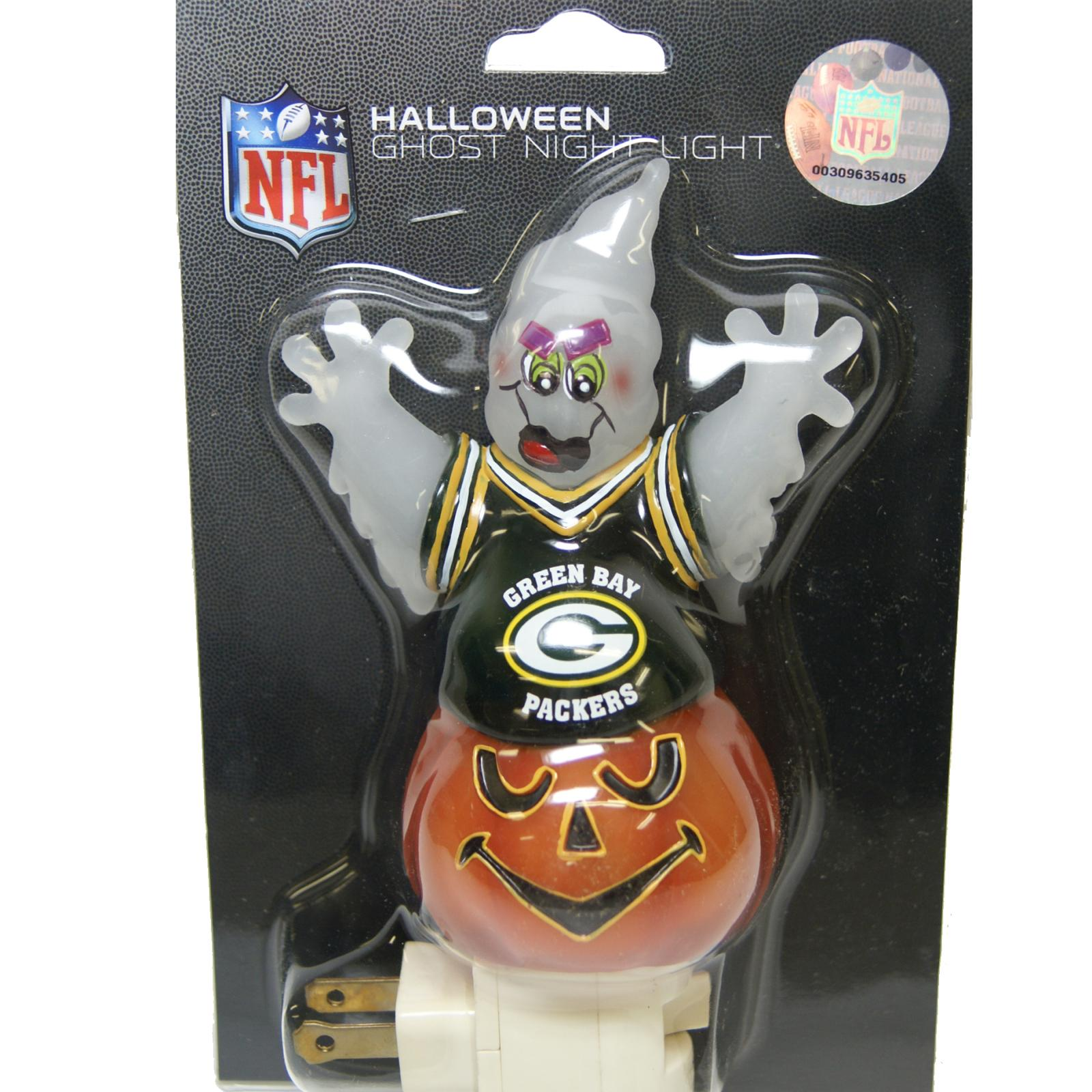 Green Bay Packers Halloween Ghost Night Light