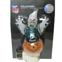 Miami Dolphins Halloween Ghost Night Light - Thumbnail 1