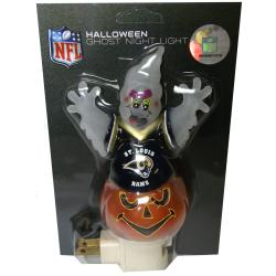 Thumbnail 3, St. Louis Rams Halloween Ghost Night Light. Changes active main hero.