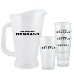 Cincinnati Bengals NFL Pitcher and Pint Glasses Set - Thumbnail 1