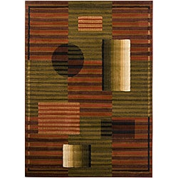 Artist's Loom Indoor Contemporary Geometric Rug (5'3 x 7'2)