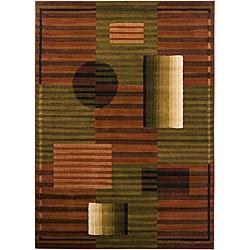 Artist's Loom Indoor Contemporary Geometric Rug (7'10 x 10'6) - 7'10 x 10'6 - Thumbnail 0