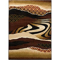 Artist's Loom Indoor Contemporary Abstract Rug - 5'3 x 7'2