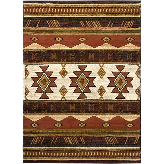Artist's Loom Indoor Country Abstract Rug - 7'10 x 10'6